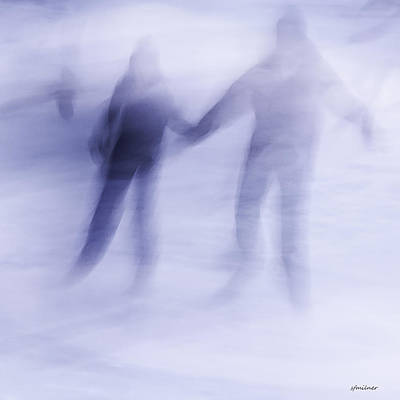 Poster featuring the photograph Winter Illusions On Ice - Series 1 by Steven Milner