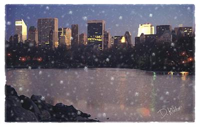 Winter In Central Park Poster by David Klaboe
