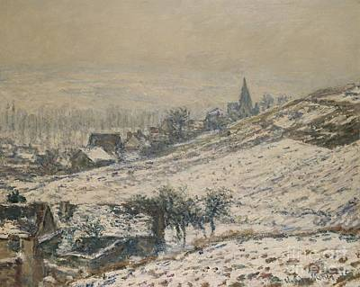 Winter In Giverny Poster by Claude Monet