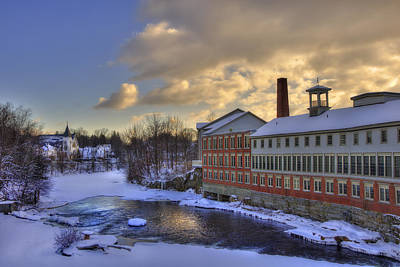 Winter In Milford New Hampshire Poster by Joann Vitali