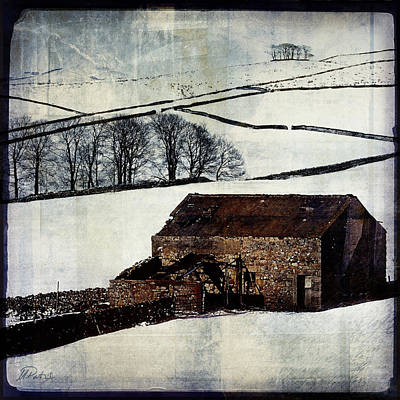 Winter Landscape 1 Poster by Mark Preston