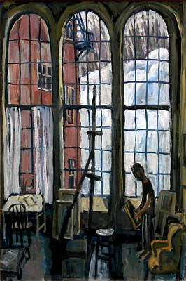 Winter Light Studio Original Oil Painting Interior Poster by Thor Wickstrom