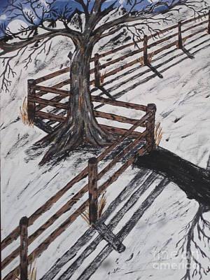 Winter Moon Shadow Poster by Jeffrey Koss