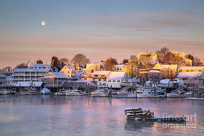 Winter Morning In Boothbay Harbor Poster by Benjamin Williamson