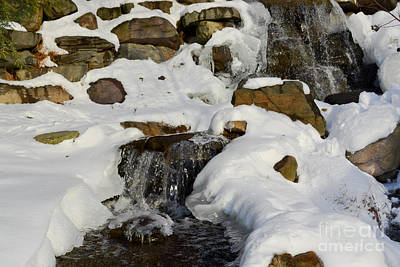 Winter Mountain Stream Poster