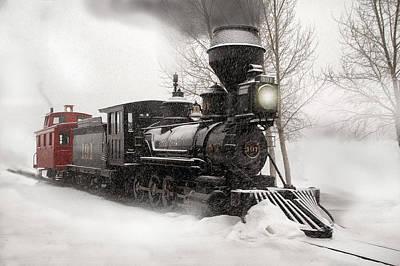 Winter Narrow Gauge Steam Poster by Ken Smith