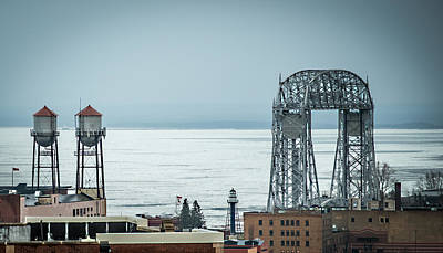 Winter On Duluth Landmarks Poster by Paul Freidlund
