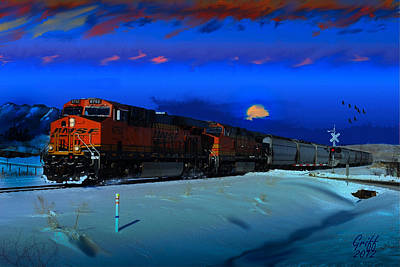 Winter On The Joint Line Of Colorado Poster by J Griff Griffin