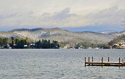 Winter On The Lake Poster by Susan Leggett