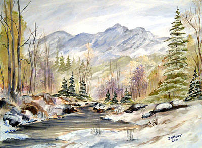 Poster featuring the painting Winter On The River by Dorothy Maier