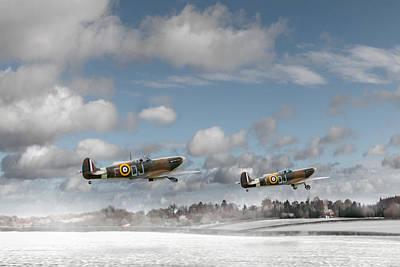 Winter Ops Spitfires Poster