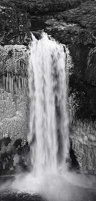 Winter Palouse Falls Vertical Poster by Mark Kiver