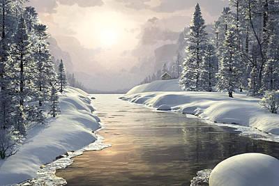 Winter Piece Poster by John Robichaud