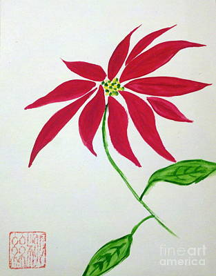 Winter Poinsettia Poster