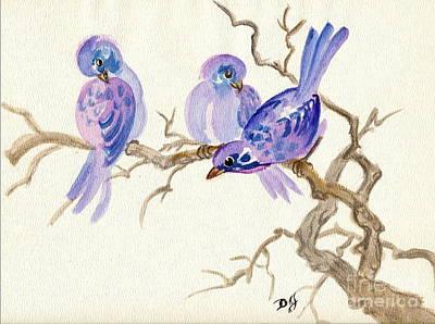 Winter Purple Delight Poster