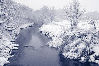 Poster featuring the photograph Winter River by Liz Leyden