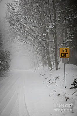 Winter Road During Snowfall I Poster