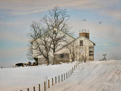 Winter Roads Poster by Lori Deiter