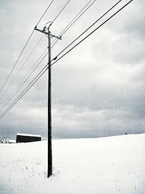 Winter Rural Scene Poster by Edward Fielding