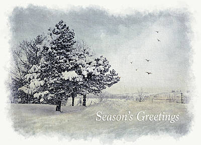 Winter Scene Greeting Card Poster by Julie Palencia