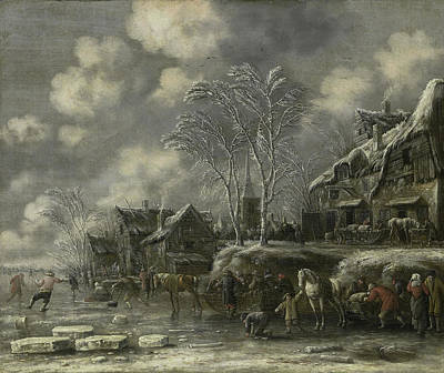 Winter Scene, Thomas Heeremans Poster by Litz Collection