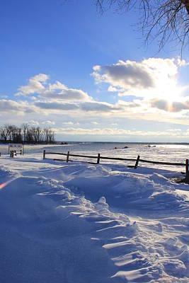 Winter Shore Poster by Bill Robinson