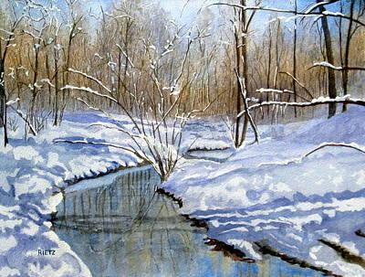 Winter Snow 1 Poster by Julia Rietz