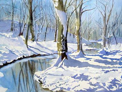 Winter Snow 2 Poster by Julia Rietz