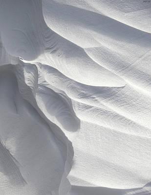 Winter Snow Drift Sculpture  Poster by Phil Perkins