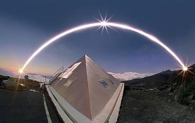 Winter Solstice Solar Trail Poster