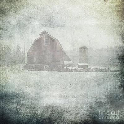 Winter Storm On Palouse Poster by Sharon Elliott