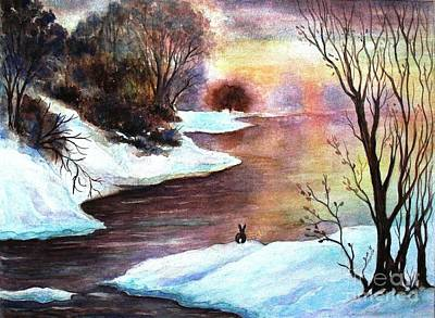Winter Sunrise Poster by Hazel Holland