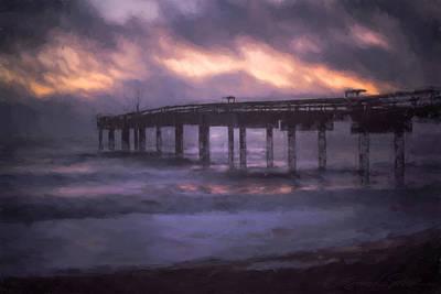 Winter Sunrise St. Augustine Beach Poster