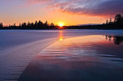 Winter Sunset  Dover Nh Poster