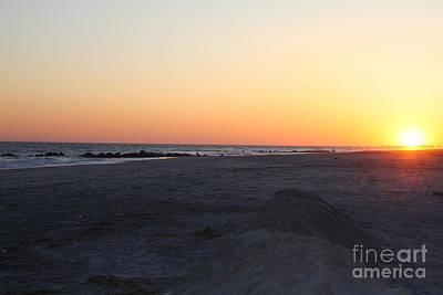 Winter Sunset On Long Beach Poster
