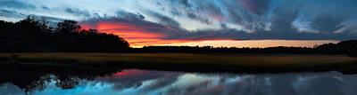 Winter Sunset Over Moultrie Creek Poster