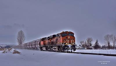 Poster featuring the photograph Winter Train by Lynn Hopwood