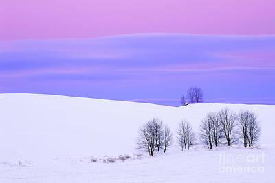 Winter Twilight Landscape Poster