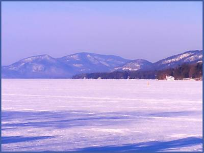 Winter View Of Tongue Mountain Range Poster