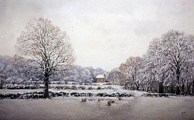 Poster featuring the painting Winter Walk by Rosemary Colyer
