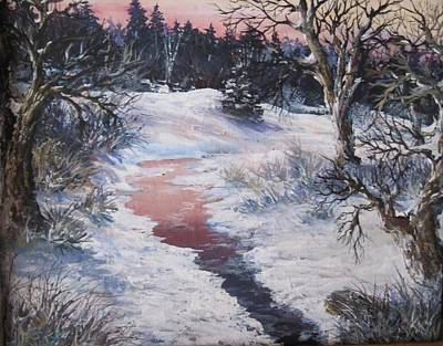 Poster featuring the painting Winter Warmth by Megan Walsh