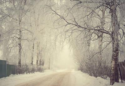Winter Way Poster by Jenny Rainbow