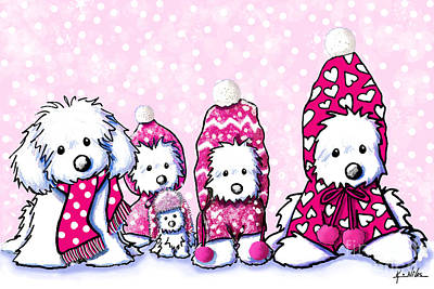 Winter Whimsy Maltese Poster by Kim Niles
