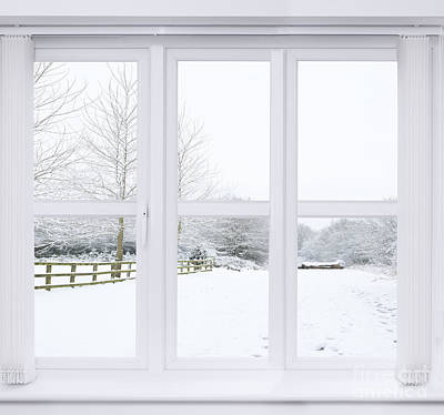 Winter Window Poster by Amanda Elwell