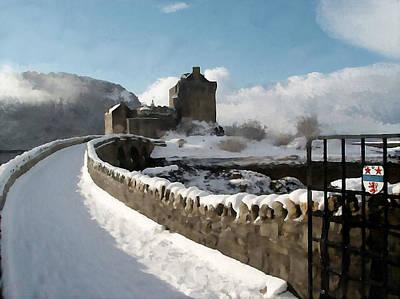Winter Wonder Walkway Poster by Bruce Nutting