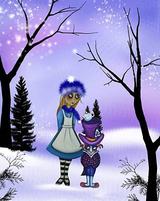 Winter Wonderland Poster by Charlene Murray Zatloukal