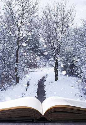 Winter Woodland Book Poster by Amanda Elwell