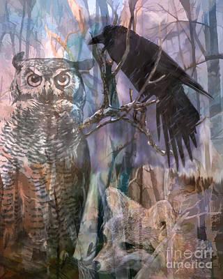 Winter Woods Poster