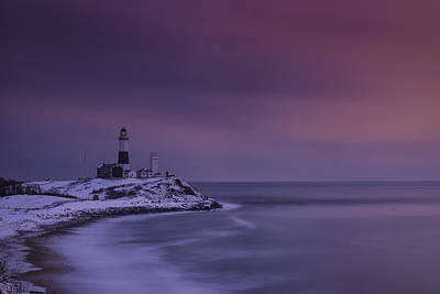 Winter's Glow At Montauk Point Poster