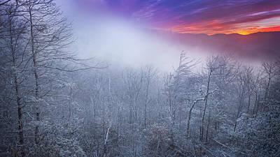 Winter's Sunrise Poster